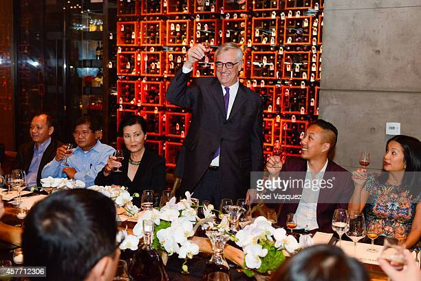 Actress Kieu Chinh Maurice Hennessy David Christopher Lee and Hennessy West Coast Marketing Manager ThuyAnh J Nguyen attend Maurice's private tasting...