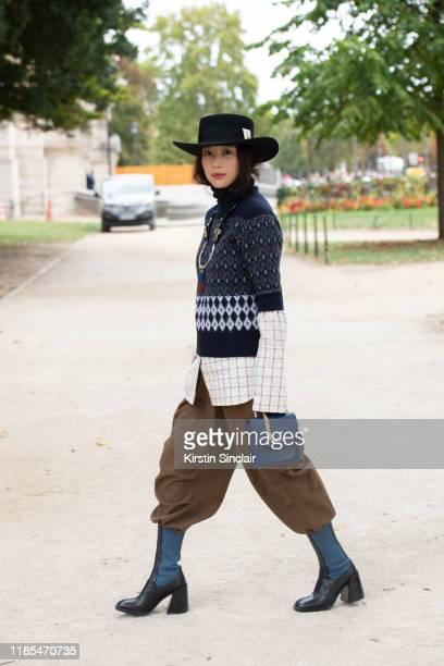 Actress Kieunse wears all Chloe on September 26 2019 in Paris France