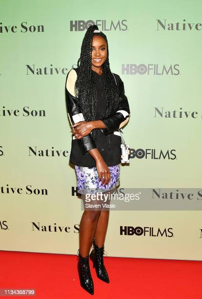 Actress Kiki Layne attends HBO's Native Son screening at Guggenheim Museum on April 1 2019 in New York City