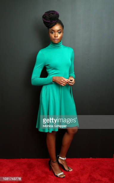 Actress KiKi Layne attends the Calvin Klein Collection fashion show at New York Stock Exchange on September 11 2018 in New York City