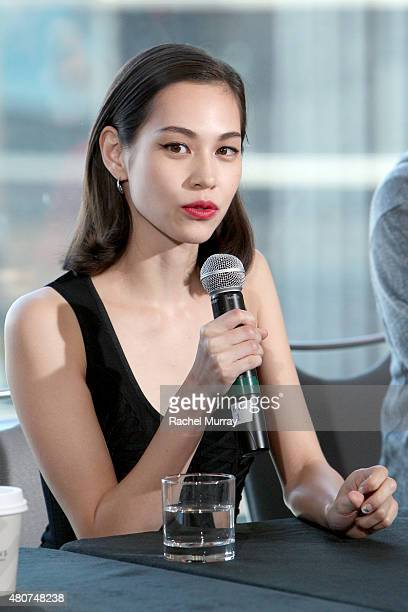Actress Kiko Mizuhara attends the 'ATTACK ON TITAN' World Premiere press conference on July 14 2015 in Hollywood California