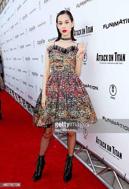 Actress Kiko Mizuhara attends the ATTACK ON TITAN World Premiere on July 14 2015 in Hollywood California