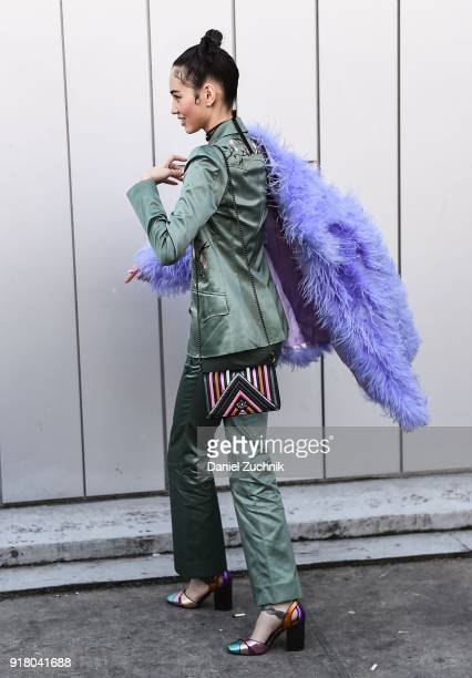 Actress Kiko Mizuhara is seen outside the Coach show during New York Fashion Week Women's A/W 2018 on February 13 2018 in New York City