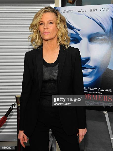 Actress Kim Basinger arrives at the premiere of Senator Entertainment's The Informers at the ArcLight Theater April 16 2009 in Los Angeles California
