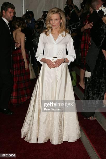 Actress Kim Basinger attends the Metropolitan Museum of Art Costume Institute Benefit Gala Anglomania at the Metropolitan Museum of Art May 1 2006 in...
