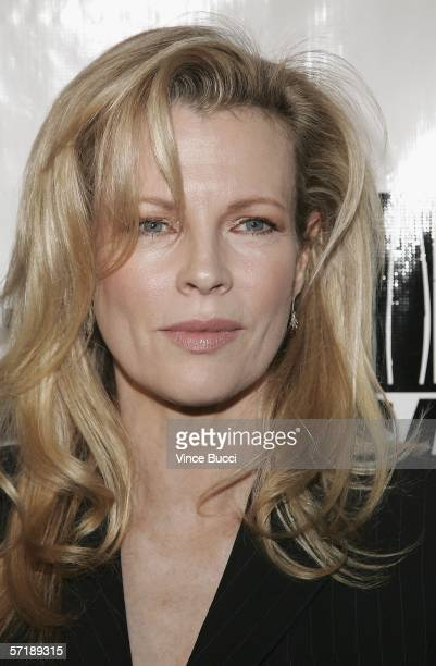 Actress Kim Basinger attends the premiere of the HBO American Undercover documentary Dealing Dogs on March 26 2006 at Paramount Studios in Los...