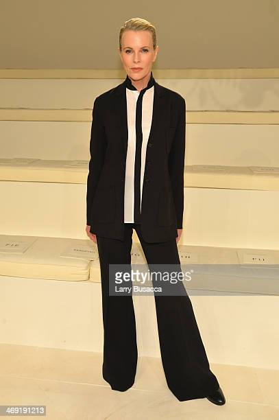 Actress Kim Basinger attends the Ralph Lauren fashion show during MercedesBenz Fashion Week Fall 2014 at St John Center Studios on February 13 2014...