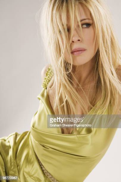 Actress Kim Basinger Poses At A Portrait Session In Paris France For Madame Figaro Published Image