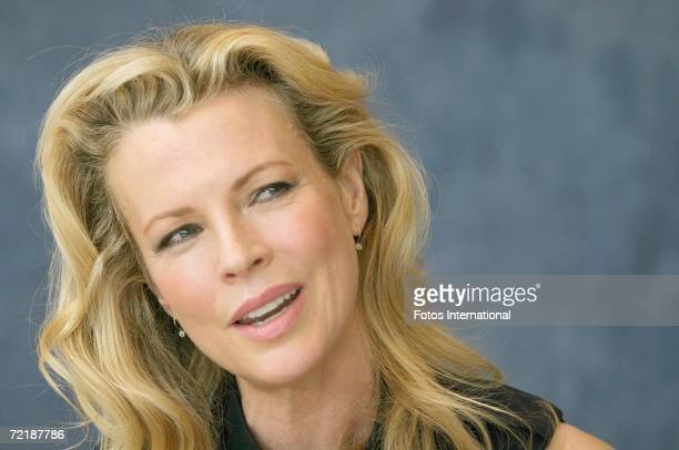 Actress Kim Basinger talks at the Beverly Hills Hotel on September 25, 2006 in Los Angeles, California.