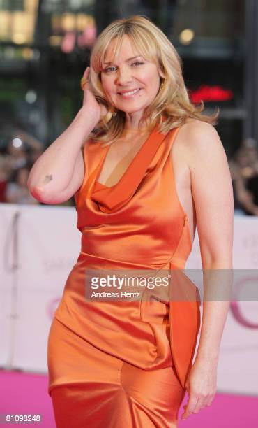 Actress Kim Catrall arrives at the German premiere of 'Sex And The City' at the cinestar on May 15 2008 in Berlin Germany