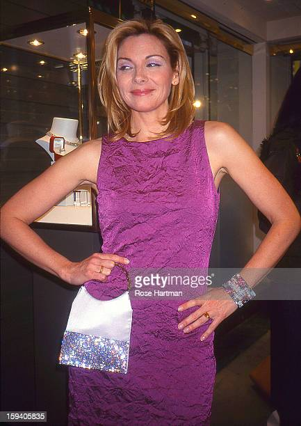 Actress Kim Catrall at a cocktail party held at an unidentified Madison Avenue boutique New York New York 2008