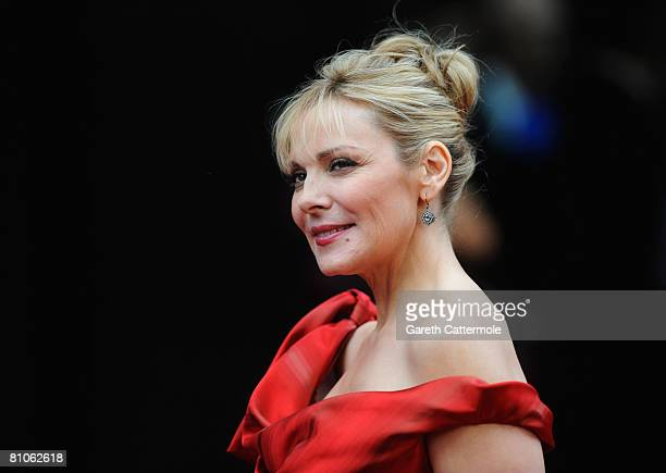 Actress Kim Catrall attends the World Premiere of 'Sex And The City' held at the Odeon Leicester Square on May 12 2008 in London England