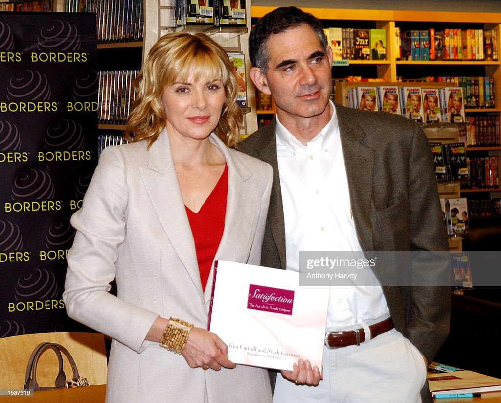 Actress Kim Cattrall and her husband Mark Levinson pose during an