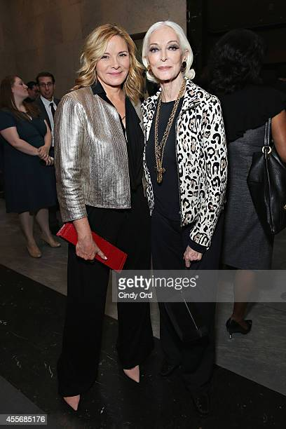 Actress Kim Cattrall and model/ actress Carmen Dell'Orefice attend American Masters The Boomer List NYC Premiere on September 18 2014 in New York City