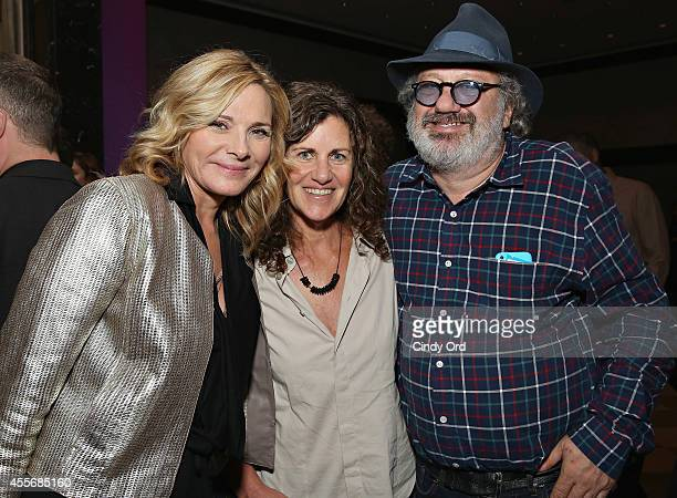 Actress Kim Cattrall and music producer Hal Willner attend American Masters The Boomer List NYC Premiere on September 18 2014 in New York City