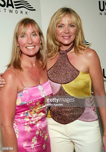 Actress Kim Cattrall and sister Cherry Kuss attend USA Network's opening night party of the 2003 US Open at Aces Restaurant Arthur Ashe Stadium...