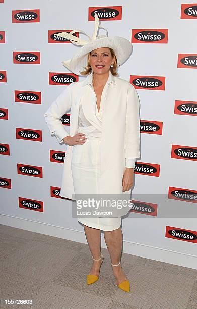 Actress Kim Cattrall attends Crown Oaks Day at Flemington Racecourse on November 8 2012 in Melbourne Australia