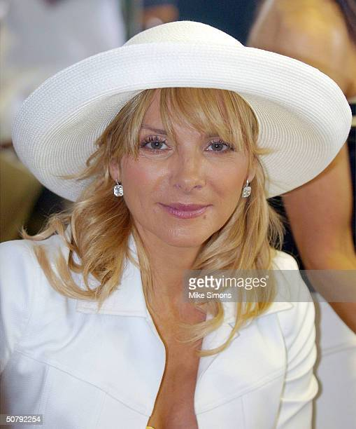 Actress Kim Cattrall attends the 130th Running of the Kentucky Derby May 1 2004 in Louisville Kentucky