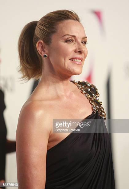 Actress Kim Cattrall attends the 2008 CFDA Fashion Awards at the New York Public Library on June 2 2008 in New York City