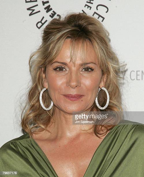 Actress Kim Cattrall attends the 2008 Paley Center for Media Gala Honoring Sumner Redstone at the Waldorf Astoria Hotel on February 7 2008 in New...