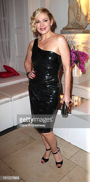 Actress Kim Cattrall attends the after party following the UK premiere of 'Sex And The City 2' at The Orangery Kensington Gardens on May 27 2010 in...