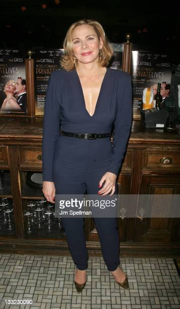 Actress Kim Cattrall attends the after party for the Private Lives Broadway opening night at Bond 45 on November 17 2011 in New York City