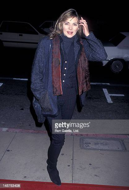 Actress Kim Cattrall attends the From Dusk Till Dawn Hollywood Premiere on January 17 1996 at the Pacific's Cinerama Dome in Hollywood California