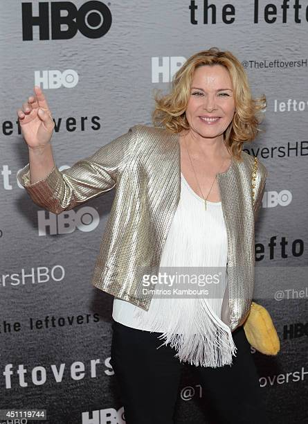 Actress Kim Cattrall attends The Leftovers premiere at NYU Skirball Center on June 23 2014 in New York City
