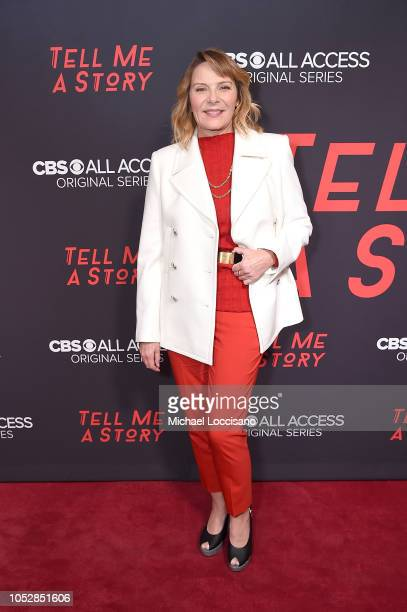 Actress Kim Cattrall attends the New York premiere of CBS All Access' Tell Me A Story at Metrograph on October 23 2018 in New York City