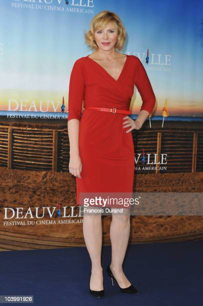 Actress Kim Cattrall attends the photocall for the film 'Meet Monica Velour' during the 36th Deauville American Film Festival on September 11, 2010...