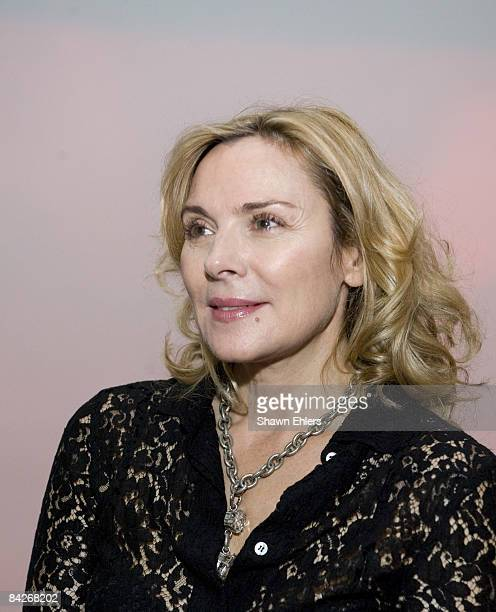 Actress Kim Cattrall attends the 'Pipilotti Rist Pour Your Body Out' exhibition opening at the Museum of Modern Art on November 19 2008 in New York...