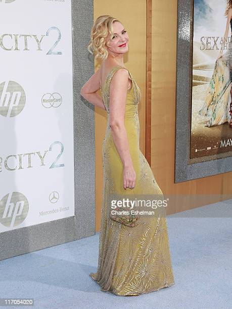 Actress Kim Cattrall attends the premiere of 'Sex and the City 2' at Radio City Music Hall on May 24 2010 in New York City