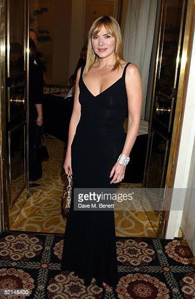 Actress Kim Cattrall attends the PreReception ahead of the annual Evening Standard Film Awards 2005 at The Savoy on February 6 2005 in London