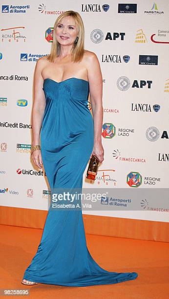 Actress Kim Cattrall attends the Roma Fiction Fest 2008 Closing Ceremony and Diamond Awards on July 12 2008 in Rome Italy