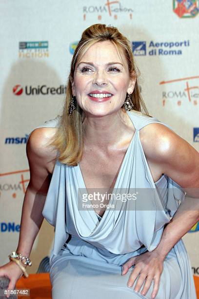Actress Kim Cattrall attends the second day of Roma Fiction Fest 2008 on July 8 2008 in Rome Italy