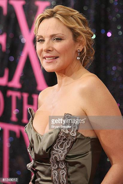 Actress Kim Cattrall attends the 'Sex And The City' premiere at Radio City Music Hall on May 27 2008 in New York City