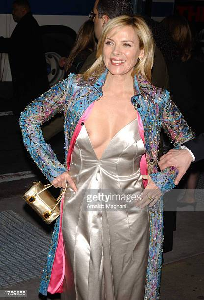 Actress Kim Cattrall from 'Sex In The City' attends a benefit for the American Foundation for AIDS Research produced in association with Concerned...