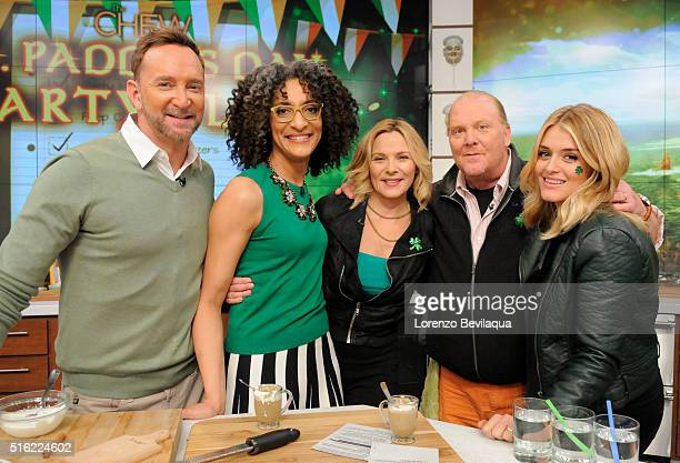 THE CHEW 3/17/16 Actress Kim Cattrall stops by to celebrate St Patrick's Day on THE CHEW airing MONDAY FRIDAY on the ABC Television Network OZ