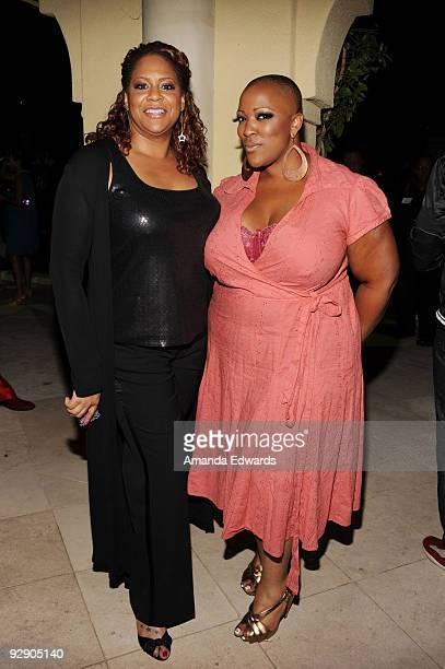 Actress Kim Coles and singer Frenchie Davis attend the 12th Annual GLAAD Tidings Seasons Greenings party at the home of Tony and Jeanne Pritzker on...