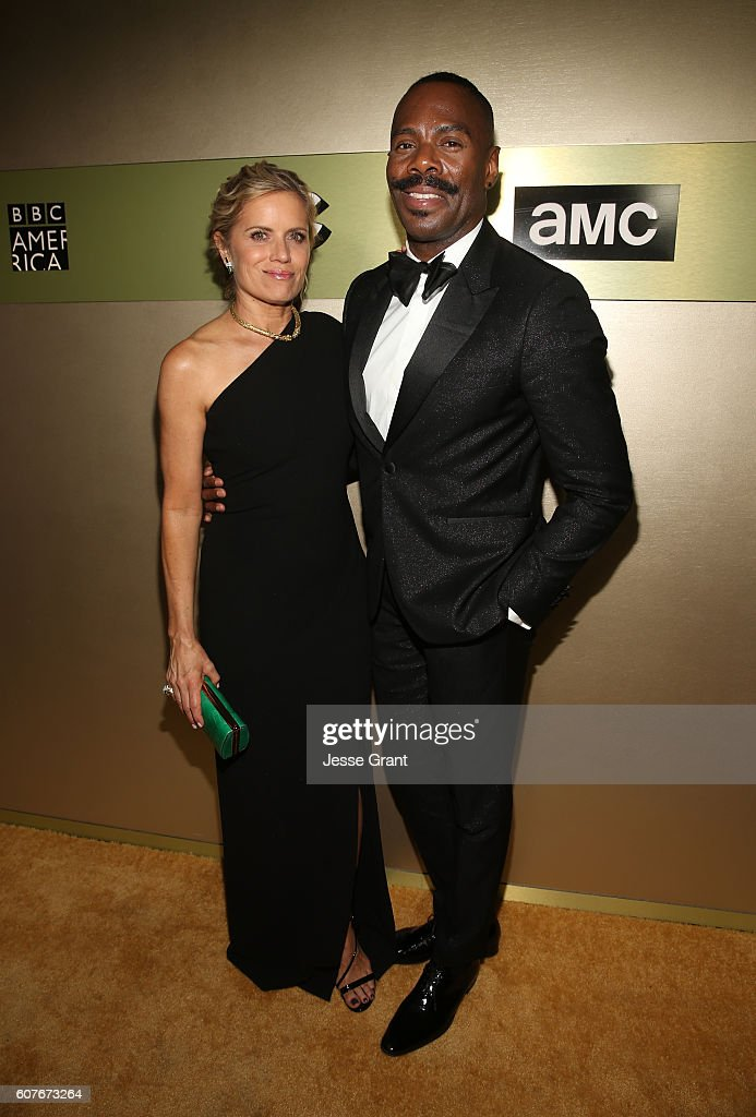 Actress Kim Dickens (L) and actor Colman Domingo attend AMC Networks Emmy Party at BOA Steakhouse on September 18, 2016 in West Hollywood, California.