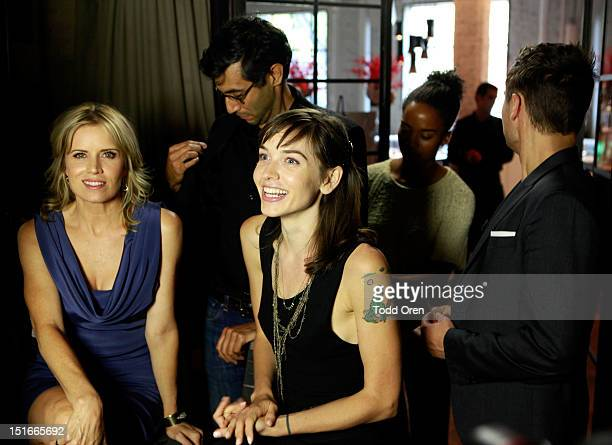 Actress Kim Dickens and Writer Hallie Elizabeth Newton attend The Hollywood Reporter TIFF Video Lounge presented by Canon on Day 3 during the 2012...