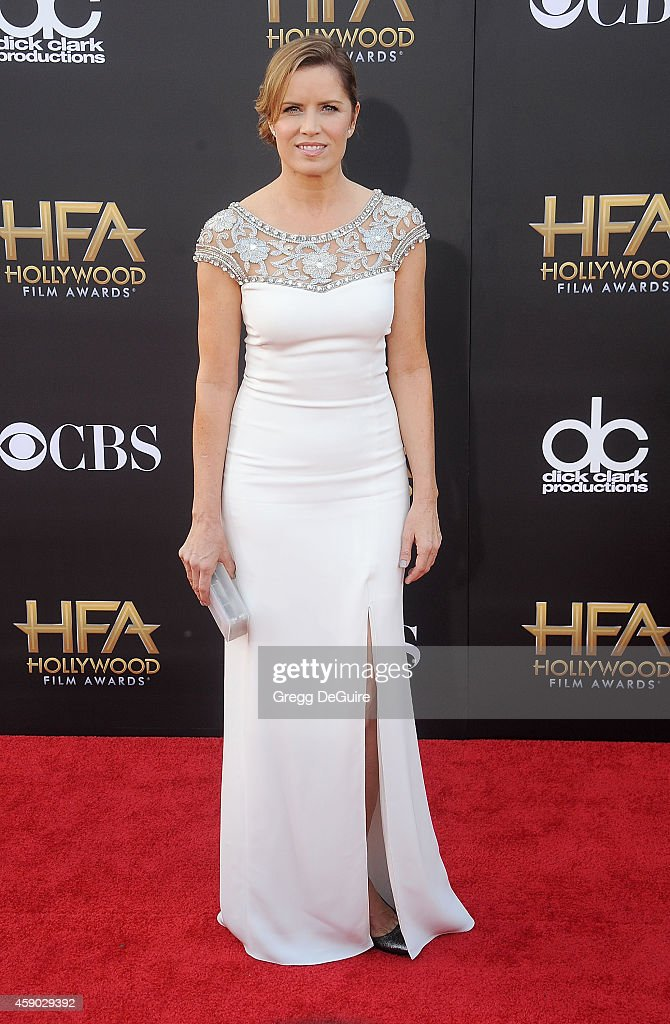 Actress Kim Dickens arrives at the 18th Annual Hollywood Film Awards at The Palladium on November 14, 2014 in Hollywood, California.