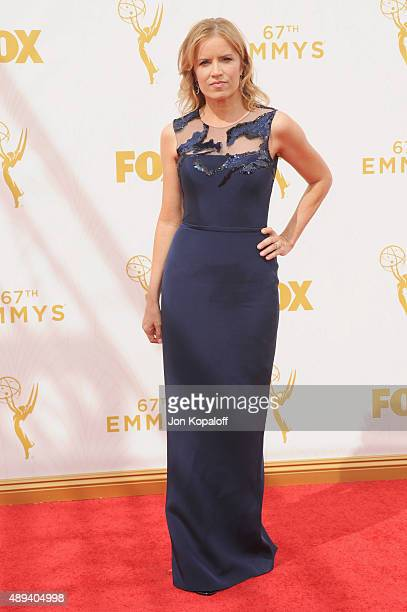 Actress Kim Dickens arrives at the 67th Annual Primetime Emmy Awards at Microsoft Theater on September 20 2015 in Los Angeles California