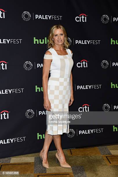 Actress Kim Dickens arrives at The Paley Center For Media's 33rd Annual PaleyFest Los Angeles presentation of 'Fear The Walking Dead' at Dolby...