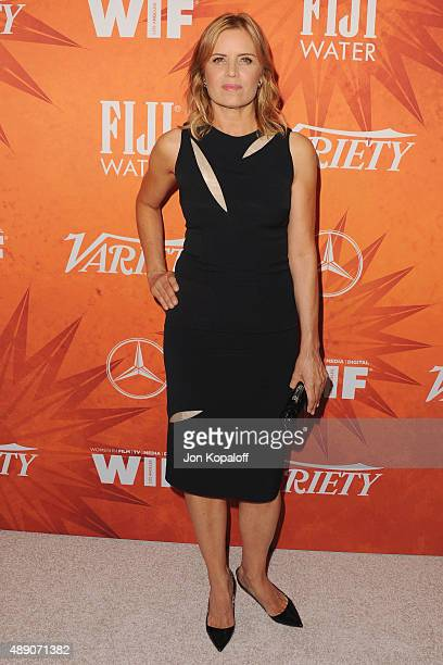 Actress Kim Dickens arrives at the Variety And Women In Film Annual Pre-Emmy Celebration at Gracias Madre on September 18, 2015 in West Hollywood,...