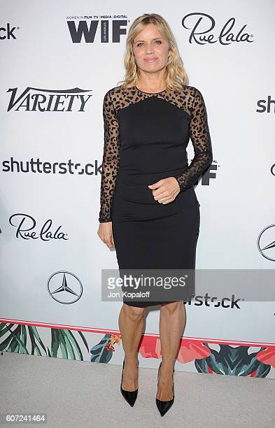 Actress Kim Dickens arrives at Variety And Women In Film's PreEmmy Celebration at Gracias Madre on September 16 2016 in West Hollywood California