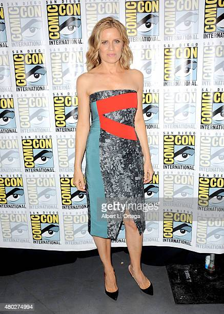 Actress Kim Dickens attends AMC's 'Fear the Walking Dead' panel during ComicCon International 2015 at the San Diego Convention Center on July 10 2015...