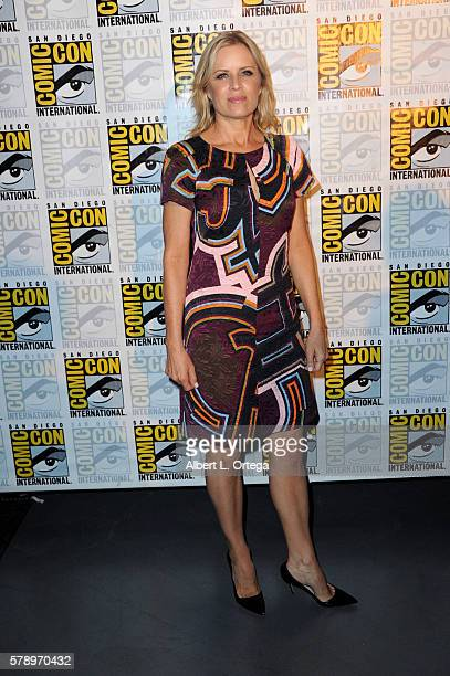 Actress Kim Dickens attends AMC's Fear The Walking Dead Panel during ComicCon International 2016 at San Diego Convention Center on July 22 2016 in...