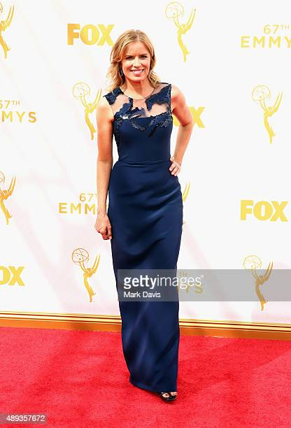 Actress Kim Dickens attends the 67th Annual Primetime Emmy Awards at Microsoft Theater on September 20 2015 in Los Angeles California