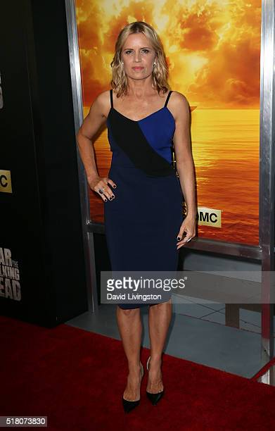 Actress Kim Dickens attends the premiere of AMC's 'Fear the Walking Dead' Season 2 at Cinemark Playa Vista on March 29 2016 in Los Angeles California